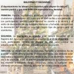 CONCURSO DE DECORACIÓN NAVIDEÑA EN VENTANAS, BALCONES Y FACHADAS